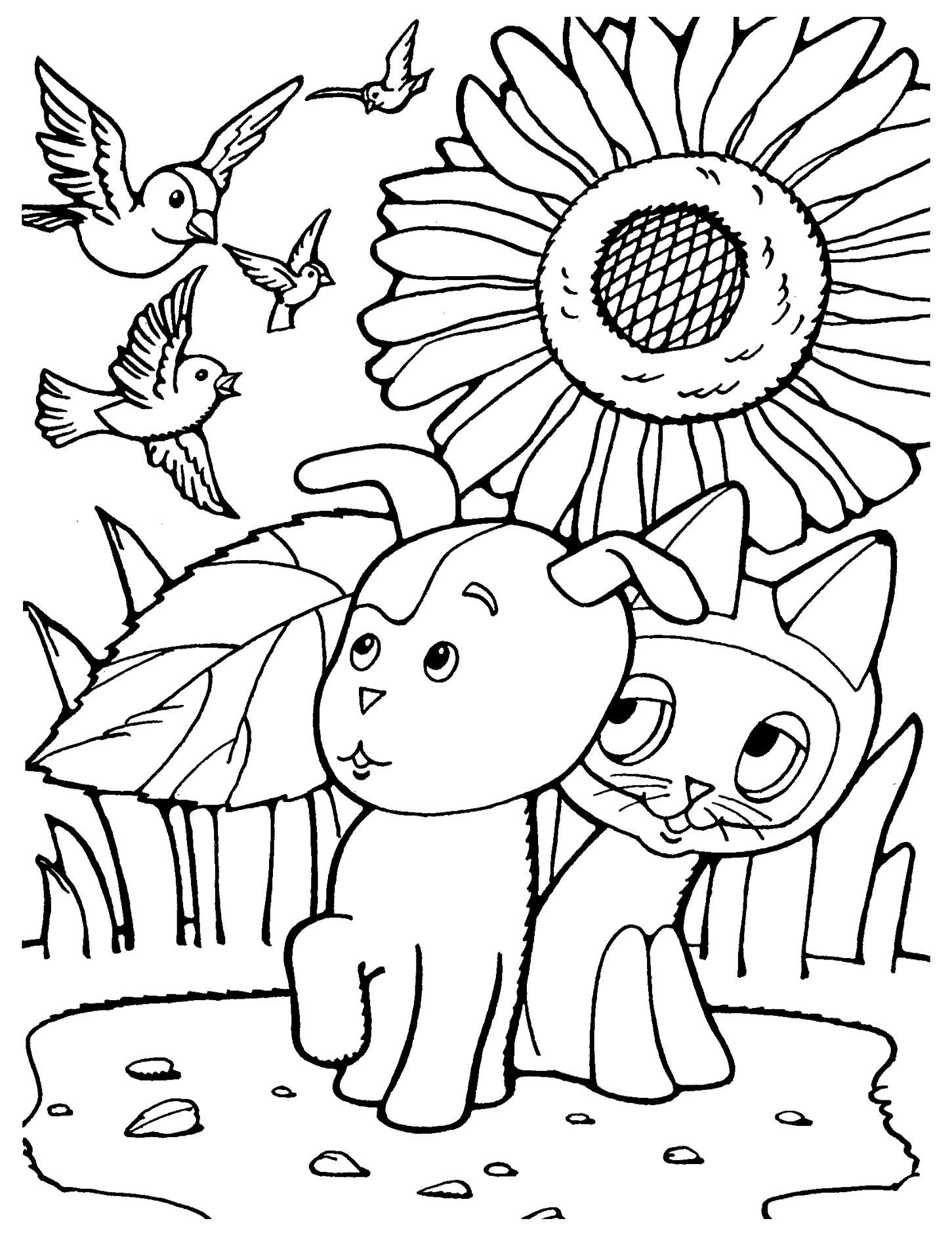 Детские раскраски котенок гав