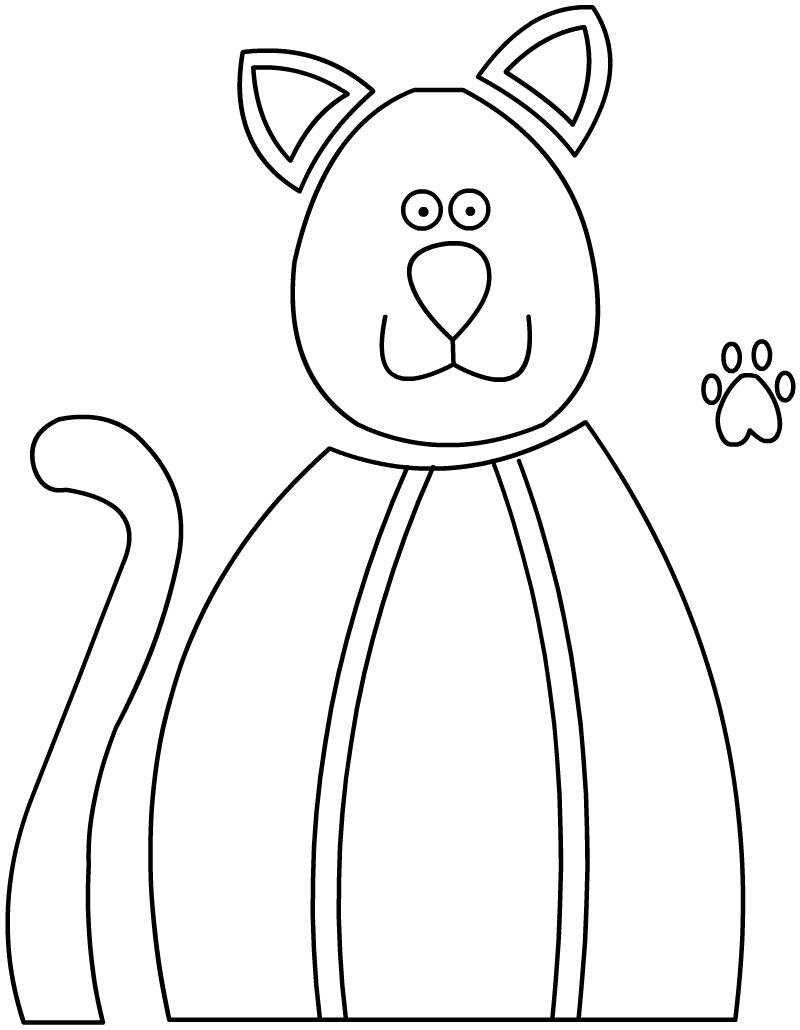 Шаблон кошки.