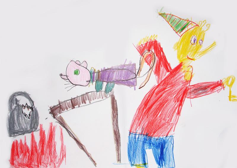 Детские рисунки карандашами