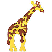 Пазлы из дерева. Жираф
