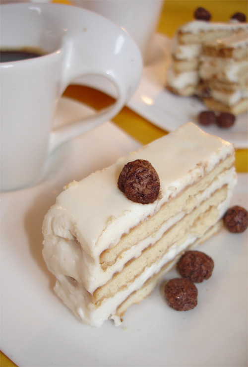 рецепт Творожный торт их печенья