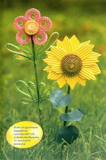 цветы из гофрокартона