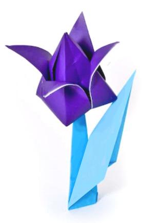 Оригами для детей Классическая модель оригами - тюльпан, знакомая старшему поколению еще со школы.