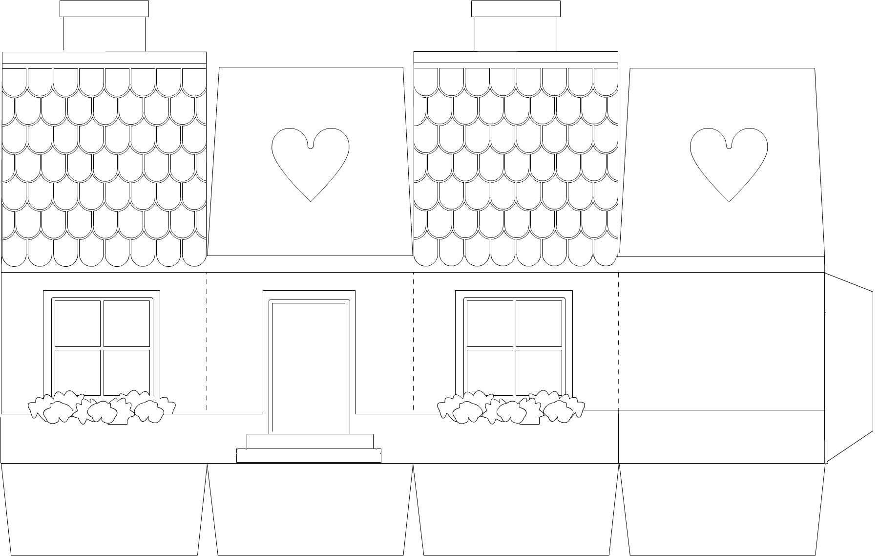 Новогодний домик своими руками: схемы, мастер классы, шаблоны.
