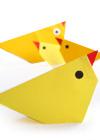 оригами к Пасхе. Цыпленок