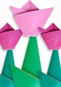 Оригами из бумаги. Цветы