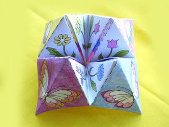 Оригами для девочек.  Гадалка.