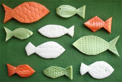 примеры рисунков на рыбах