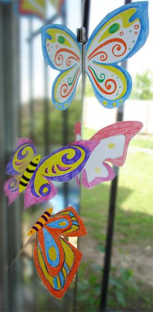 Бабочки на зеркале