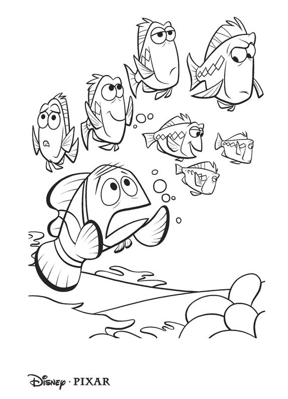 Рыбка Немо. Раскраска