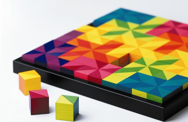 Конструктор из деревянных кубиков