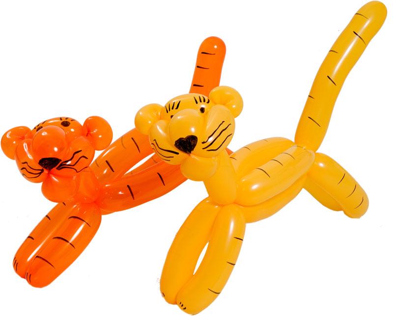 тигры из воздушных шаров для