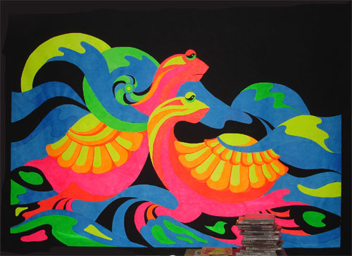 флуоресцентные краски. полотна, картины