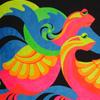 Рисуем по ткани флуоресцентными красками
