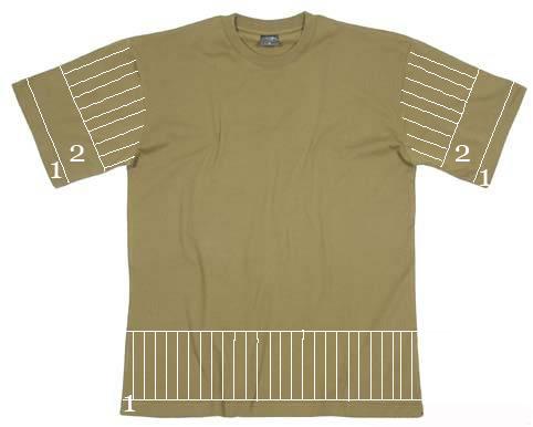Схема разреза футболки