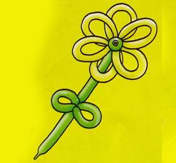 готовый цветок из шаров