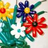 Фигура цветка из воздушных шаров