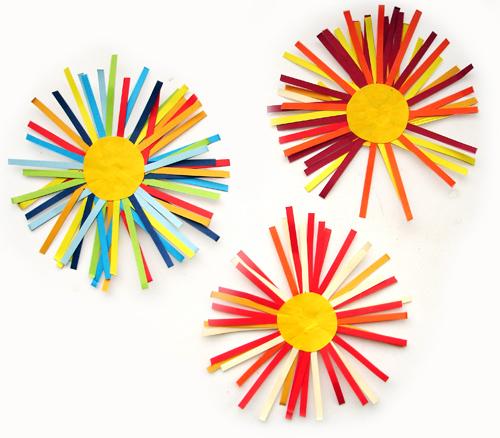 Бумажные цветы. Поделки для малышей