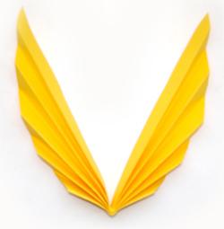Листья. оригами из бумаги