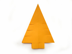оригами из бумаги. Елка