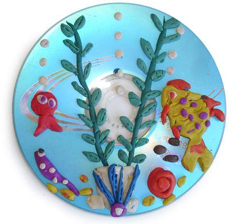 Морская пластилиновая картина