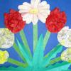 Цветочки. Аппликация из салфеток